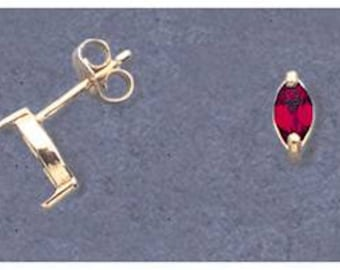 Solid Sterling Silver or 14kt White or Yellow Gold 1 Set (2 pieces) 4x3-6x3 Marquise Earring Setting, New, Made in USA 162-142/142-142