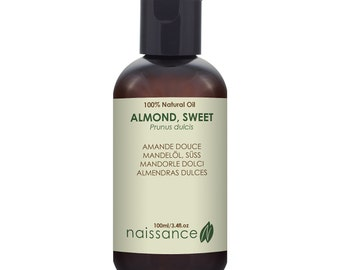 Naissance Sweet Almond Carrier Oil Massage Therapy, Skincare & Hair Conditioning
