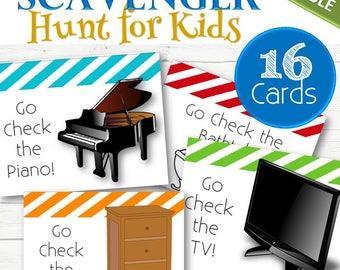 EDITABLE Scavenger Hunt for Kids - INSTANT DOWNLOAD
