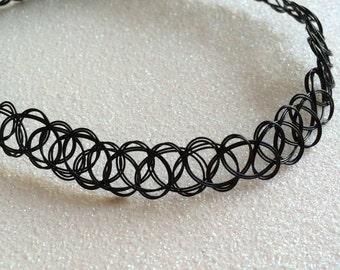 Deadstock Double String 90's Tattoo Choker, Bracelet, or Ring