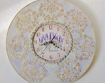 Unique wall clocks Round wall clock Distressed clock Present for parents Contemporary clock Circle clock Decorative clock Kitchen clock