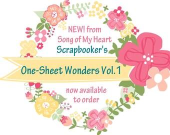 Vol. 1 Scrapbooker's One-Sheet Wonders: Instant Digital Download