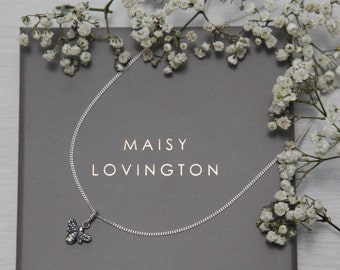 Silver Bee Necklace (Sterling Silver)