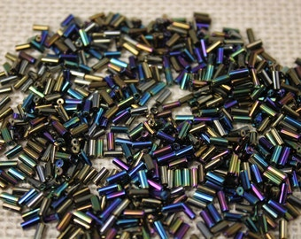 5mm Vintage Vitrail Glass Tube Beads (150 Pieces)