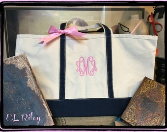 Personalized Bridesmaid Gift Bags, Personalized Tote, Bridesmaid Gift, Monogram Tote, Set of 7