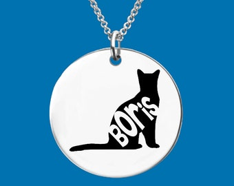 Russian Blue | Cat Gifts | Cat Jewelry | Cat Necklace | Cat Lover Gift | Cat Memory | Personalized Cat Necklace | Apla Agapa