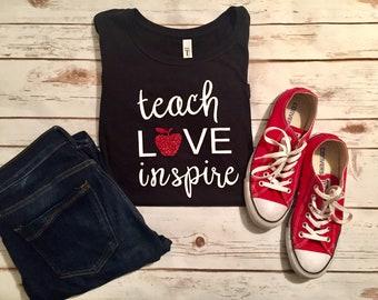 Teach Love Inspire Women's Tee Shirt