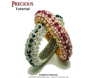 Tutorial Precious Bangle - beading pattern