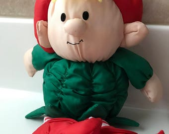 Stuffins 1993 Puffalump Elf Stuffed Animal Christmas Misfit Toys