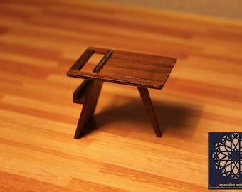 Mid Century Modern Side Table - 1/12 scale