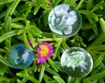 Hand-blown glass marble