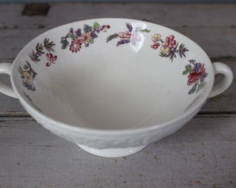 Vintage Orient by Wedgwood Wellesley Footed Cream Soup Bowl & Saucer Set of 5