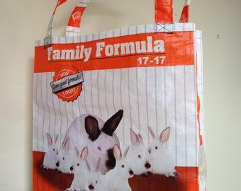 Reusable feed bag tote- rabbit - by CarterSafari