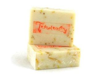 Handmade Silk Soap Fragrance Free No Colour Cold Process Soap Calendula Tussa Silk