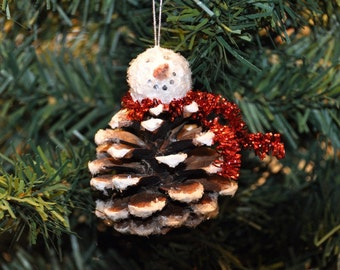 Pinecone Snowman Ornament