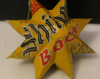 Upcycled Shiner Bock Beer Can - Star Ornament