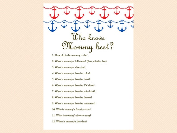Captivating Who Knows Mommy Best Daddy Best Nautical Beach Baby Shower