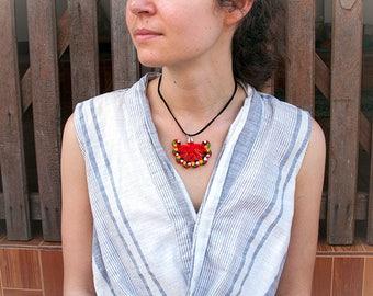 Tai Dam Flower Necklace, Laos