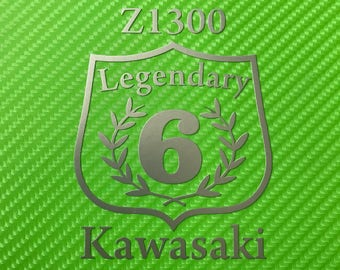 Kawasaki legendary 6 Z1300 side fairing tank vinyl motorcycle decal sticker Kawasaki style various colours available