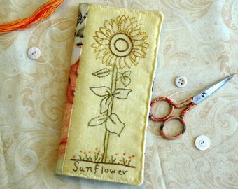 Sunflower Hand Embroidery PDF Pattern Instant Download