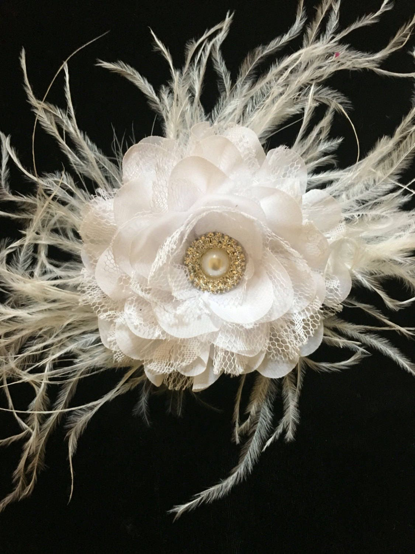 Flower Girl Hair Accessories White Flower Clip White Lace Flower