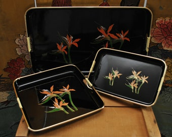 1970s Japanese Laquerware Trays