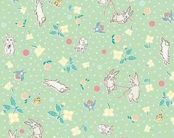 20% OFF Penny Rose Fabrics Bunnies and Blossoms Main Mint