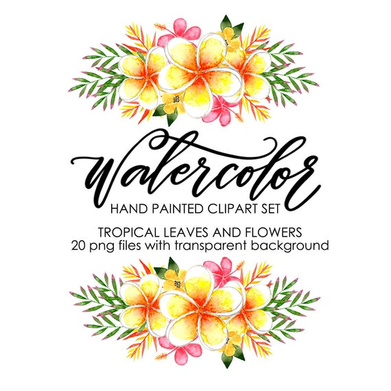 watercolor clipart watercolor floral clipart watercolor flower rh etsystudio com tropical clipart png tropical clipart png