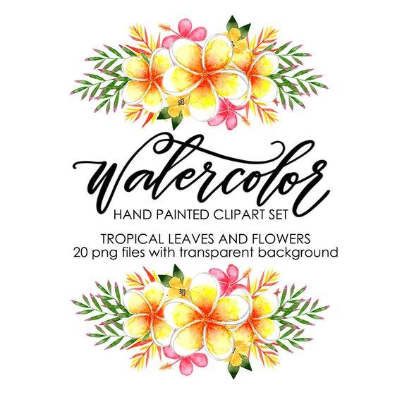 watercolor clipart watercolor floral clipart watercolor flower rh etsystudio com tropical clip art images tropical clipart png