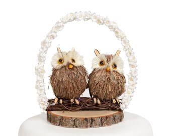 Owl Arch Wedding Cake Topper - 104129
