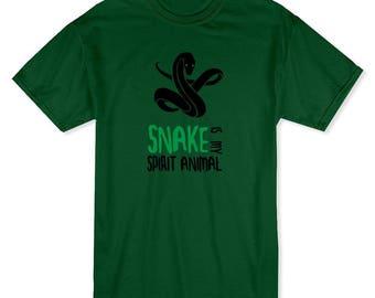 Snake Is My Spirital Animal Snake Lovers Men's Forest Green T-shirt