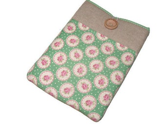 kindle voyage case, NOOK GlowLight Plus, Kobo Touch case, Kindle paperwhite case, Kobo Glo HD case cover - Floral fabric