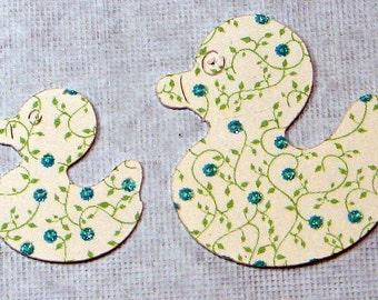 Baby Blue textured  Duck Die Cuts, Set of 53 Piece