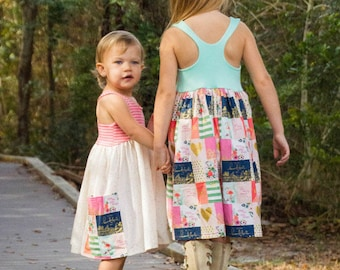 KNIT Lucy Bodice Add On – MUST Purchase Woven Version For Skirt. PDF Sewing Patterns For Girls Sizes 2T-12