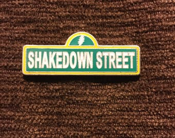 Grateful dead Shakedown Street  hat pin