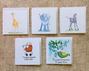 Square Gift Tags - Babes