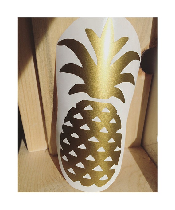 pineapple vinyl decal vinyl stickers laptop decal car. Black Bedroom Furniture Sets. Home Design Ideas