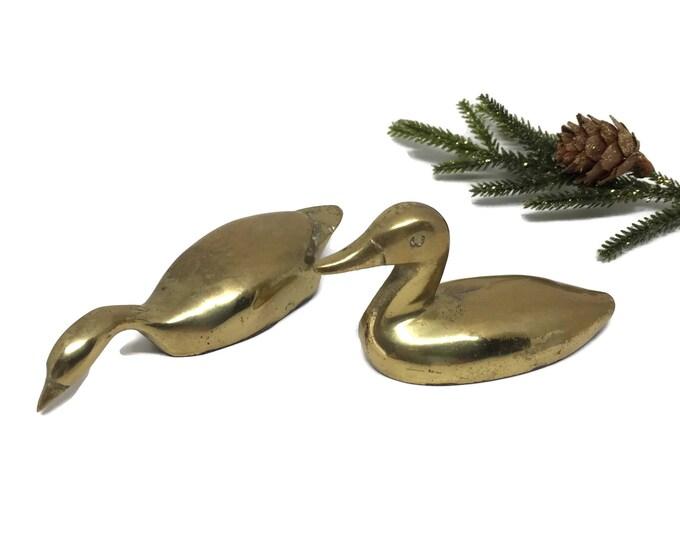 Vintage Brass Duck Figurines