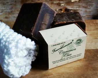 Cinnamon Chia Olive Oil Soap