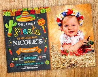 Fiesta Invitation, Fiesta Birthday Invitation, Digital Fiesta Party Invite, Cinco De Mayo Invitation, Mexican Fiesta Invitation.