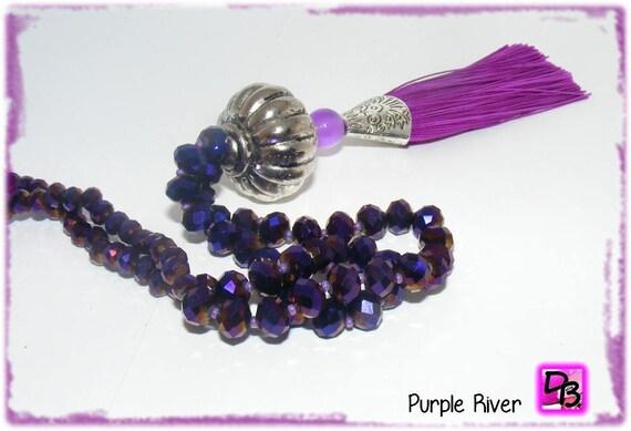 Sautoir pompon [Purple River]