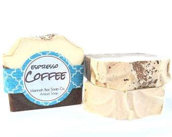 Espress coffee soap, coffee ground soap, milk coffee soap, natural coffee soap