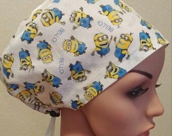 Women's Surgical Cap, Scrub Hat, Chemo Cap, Minions