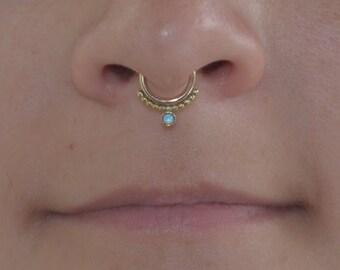 Septum Gold Jewelry, Gold daith piercing, Septum earring, Nipple ring, Septum Hoop 16g, Daith ring, Nipple jewelry hoop
