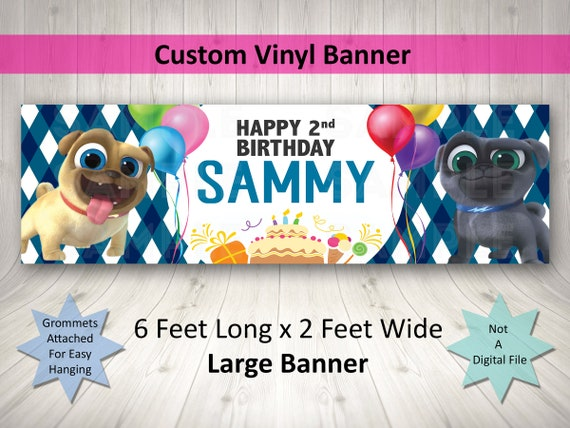 Puppy Dog Pals Birthday Banner Disney Puppy Dog Pals Puppy