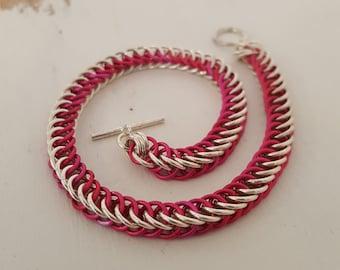 Pink & Silver Bracelet