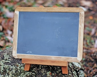 Wedding Chalkboard with Easel - Framed Rustic Chalkboard - 7x10 Size Chalkboard - Rustic Wedding - Rustic Wedding Decor - Chalkboard Display