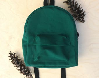 Toddler backpack, Gifts for toddlers, gifts for 1 year olds, gift for 2 year old, gift for 3 year old, Green backpack, Gender Neutral