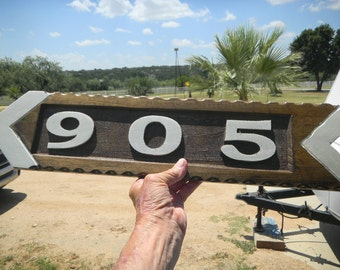 Street Signs, Directional, Carved, Reclaimed Cedar, Decorative, Rustic, Barnwood, Custom Made, Reflective, Permanent,