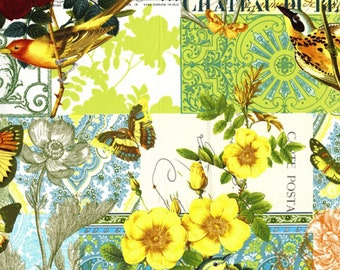 Yellow Anjou Pour Vous From Michael Miller French Journal Collection Quilt Fabric by the Half Yard